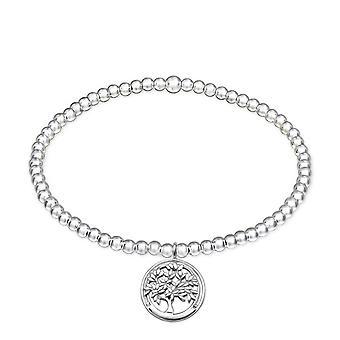 Livets träd - 925 Sterling Silver kedja armband - W32452x