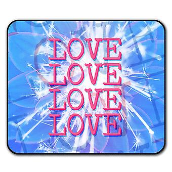 Lovely Love  Non-Slip Mouse Mat Pad 24cm x 20cm | Wellcoda