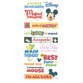 Disney Stickers Borders Packaged Mickey Themepark Phrase Stickers Pdscb 43