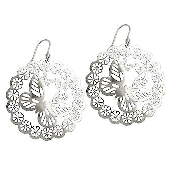 Earrings, 925 Silver butterfly earrings