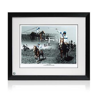 Framed Signed Bob Champion Grand National Photo: Aldaniti