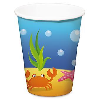 Beaker krus Cup Mermaid Mermaid bursdag barna partiet 350 ml 4pcs