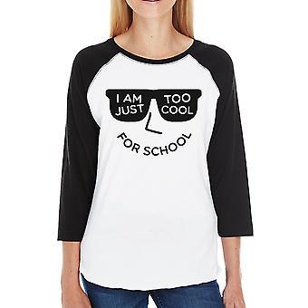 Muito legal para escola Womens Black t-shirt Raglan presente para meninas adolescentes