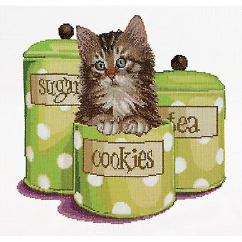 Cookie Time On Aida Counted Cross Stitch Kit-12.25