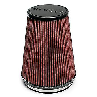 Airaid 701-469 Universal Clamp-On Air Filter: Round conico; 6 pollici (152 mm) flangia ID; 9 in (229 mm) altezza; 7,25 in (184