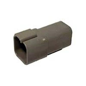 TE Connectivity DT04-6P Bullet connector Plug, straight Series (connectors): DT Total number of pins: 6 1 pc(s)