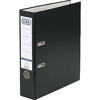Elba Folder rado basic A4 Spine width: 80 mm Black 2 brackets 10456SW