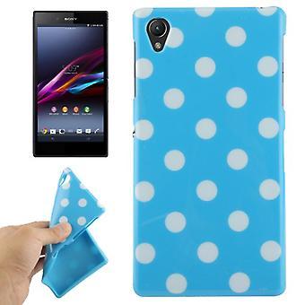Schutzhülle für Handy Sony Xperia Z1 hellblau/weiß
