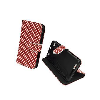 Mobile phone case pouch for mobile Xiaomi Redmi 3 s polka dot Red