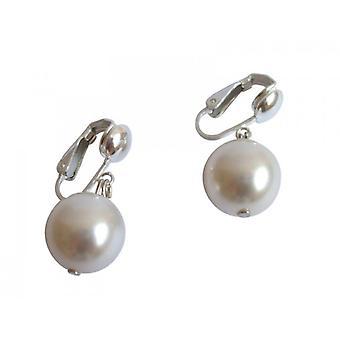 Argento perla bianca COBIE 925 argento orecchini di perle orecchini clip