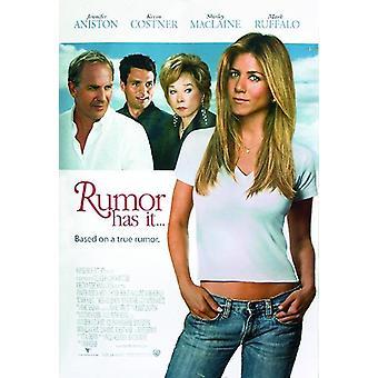 Rumor Has it (Amerikanisches Original, Beidseitig Bedruckt) Jennifer Aniston, Kevin Costner, Mena Suvari