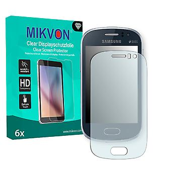 Samsung S6818 Galaxy Fame Screen Protector - Mikvon Clear (Retail Package with accessories)