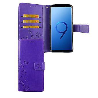 Samsung Galaxy S9 mobile case bag cover Flip case compartment violet