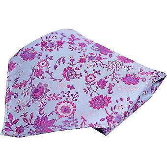 Posh and Dandy Floral Luxury Silk Pocket Square - Blue/Purple