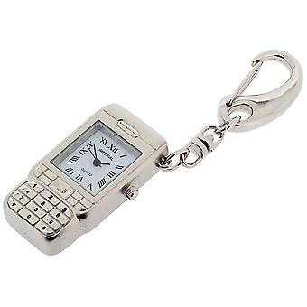 Gift Time Products Camera Phone Style Clock Key Ring - Silver