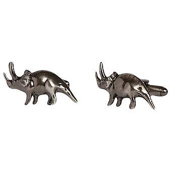 Simon Carter Triceratops Dinosaur Cufflinks - Grey