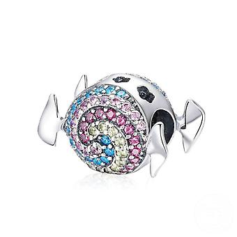 Charm in argento Sterling caramella arcobaleno