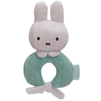 Tiamo Miffy rattle knitted mint