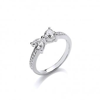 Cavendish French Silver and CZ Bow Ring