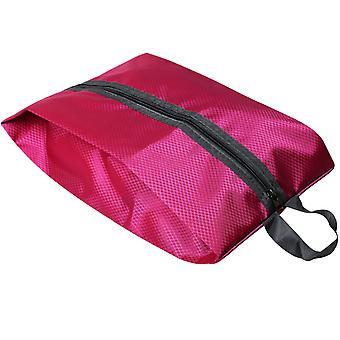 Caliente Rosa tela plegable zapato bolsa equipaje organización TRIXES Zip