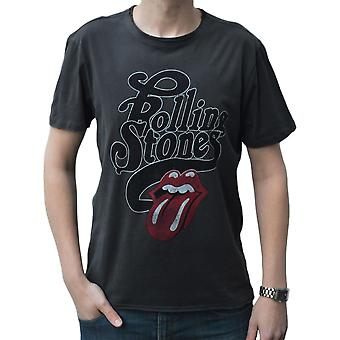 Amplified The Rolling Stones Licked Charcoal Crew Neck T-Shirt XXL