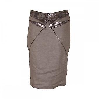 Dimare Women's Brown Tailored Pencil Skirt