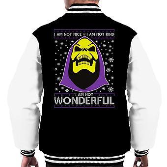 He Man Skeletor Christmas Knit Pattern Men's Varsity Jacket