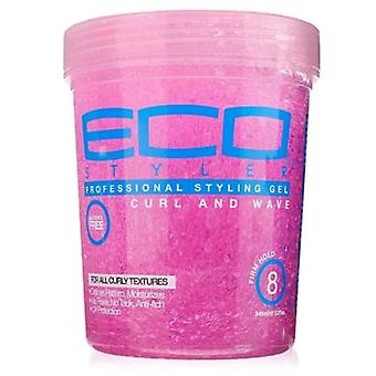Eco Styler Professional Styling Gel for Curls & Waves, Pink, 32oz