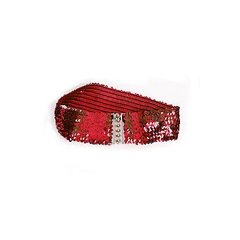 Belts and suspenders  Wide waist belt with red sequins