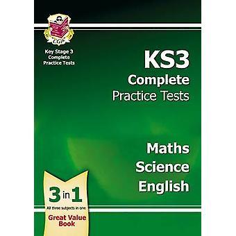 KS3 Kompletten Praxis-Tests - Wissenschaft - Mathematik und Englisch von CGP-Buch