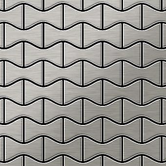 Metal mosaic Stainless Steel ALLOY Kismet-S-S-B