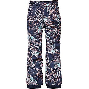 ONeill Blue Aop-Pink-Purple Charm Slim Girls Snowboarding Pants