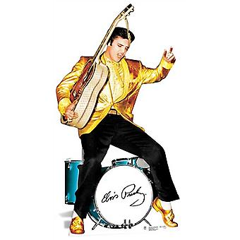 Elvis Gold Jacket and Drums Lifesize Cardboard Cutout / Standee