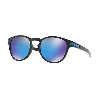 Oakley OO9265-30 OO9265-30 Matte Black Latch Round Sunglasses Lens Category 3 Lens Mirrored Size 53mm