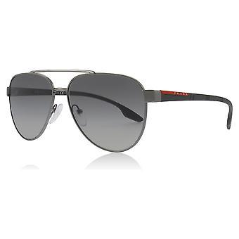 Prada Sport PS54TS 5AV3M1 Gunmetal PS54TS Pilot Sunglasses Lens Category 2 Size 58mm