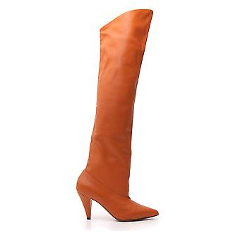 Givenchy Orange Leather Boots