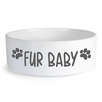 Fur Baby Small Ceramic Dog Bowl