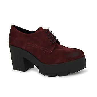 Liberitae Zapatos De Cordones Y Bluchers Blucher Tacón En Serraje Burdeos 21703625-02