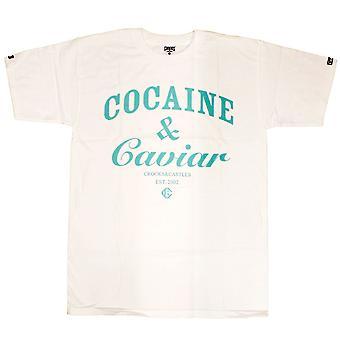 Ladrones y castillos cocaína y Caviar camiseta blanco azul