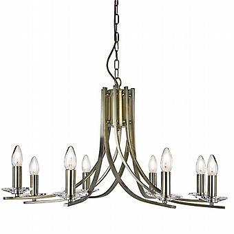 Ascona 8 lumière torsadées pendentif avec verre clair appliques de plafond
