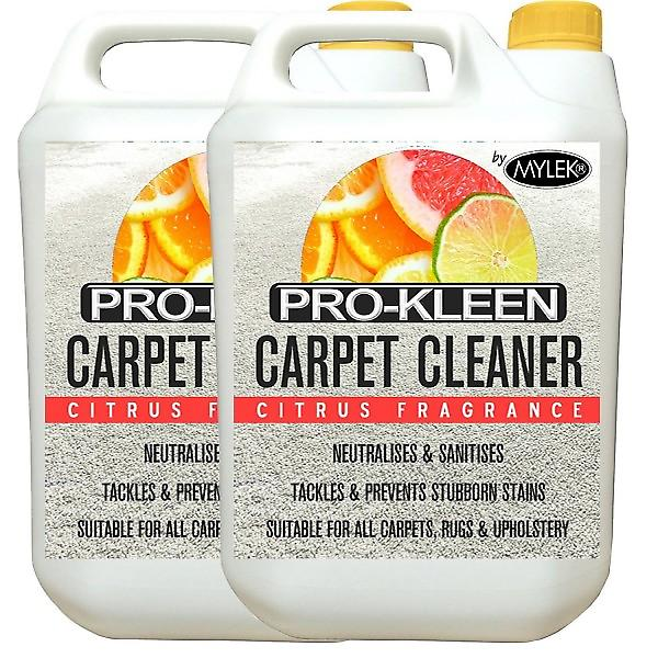 Mylek Upholstrey Carpet Cleaning Solution Citrus Fragrance; 2 X 5 Litres