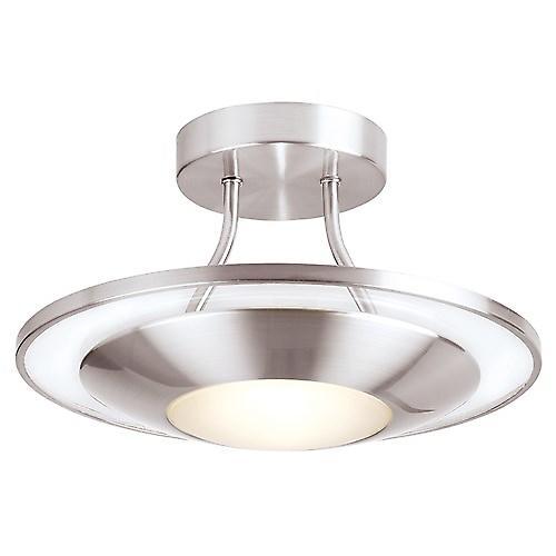 Endon 387-30SC Modern Semi-Flush Ceiling Light In Satin Chrome