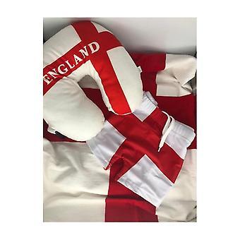 Paquete de vacaciones de verano de Union Jack wear-Inglaterra-bañador, toalla, cojín de cuello