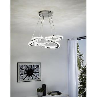 EGLO VARRAZO Luxury Crystal ring LED tak hänge