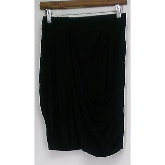 Giuliana Skirt Asymmetrical Draped Skirt Black Womens 422-214