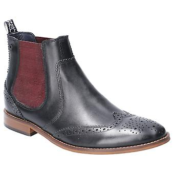 Base London Mens Gaffer Waxy Pull On Chelsea Boot