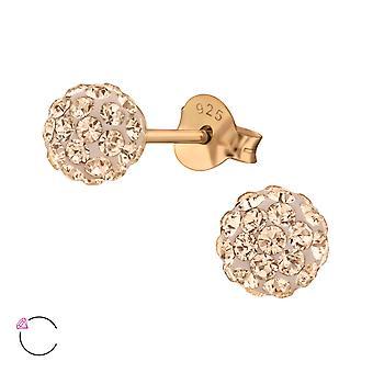 Crystal Ball crystal from Swarovski® - 925 Sterling Silver Ear Studs - W37113X