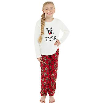 Kids nyhet OH hjort fleece Pyjama sett
