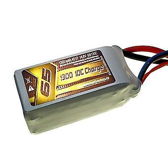1300 mAh 65C 4s1p 14.8 v, 10 C charge