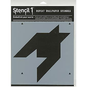 Gabarit1 11 « X 11 » Stencil-1 grand Houndstooth S1-11 X 11-PA80